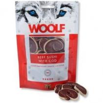 WOOLF Snack beef sushi with cod 100g