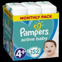 Pampers Active Baby 4+ Maxi 9-16kg