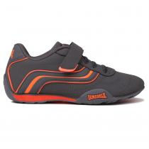 Lonsdale Lonsdale Camden Childrens Trainers, Charcoal/Orange, 29