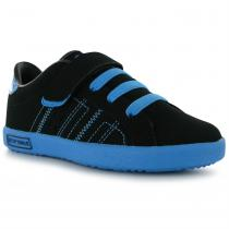 Lonsdale Lonsdale Oval Childrens Trainers, Black/Blue, 31.5