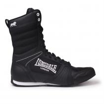 Lonsdale Lonsdale Contender Junior Boxing Boots, Black/White, 35.5