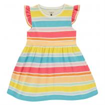 Crafted Jersey Dress Infant Girls, Rainbow Stripe, 104