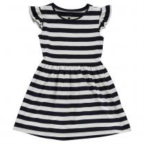 Crafted Jersey Dress Infant Girls, Navy Stripe, 110