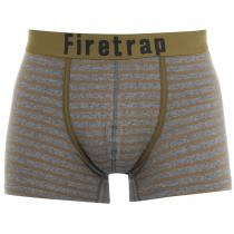 Firetrap Firetrap 2 Pack Trunks, Olive Stripe, XXL