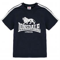 Lonsdale Lonsdale Logo T Shirt Junior Boys, Navy/White, 164