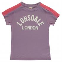 Lonsdale Lonsdale Crew T Shirt Junior Girls, Lilac, 128