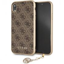 Guess Guess Charms Hard Case 4G iPhone XR, Brown