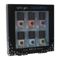 2K Let´s Get Colourful! Pastels 5 ml sada lak na nehty 6x 5 ml