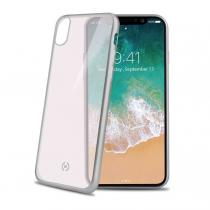 CELLY Kryt na mobil Celly Laser pro Apple iPhone X/Xs - stříbrný