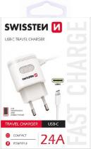 Swissten SWISSTEN TRAVEL CHARGER USB-C 2,4A POWER WHITE
