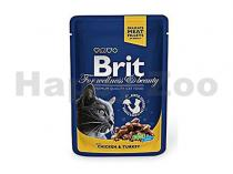 Brit Brit Premium Cat kaps. -Gravy Chicken & Turkey 100 g