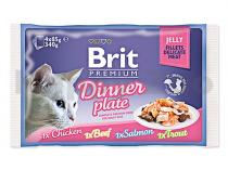 Brit Multipack kapsička BRIT Premium Jelly Dinner Plate (4x85g)