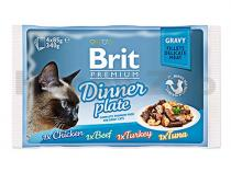 Brit Brit Premium Cat Delicate Fillets ve šťávě Dinner Plate 340g (4x85g)