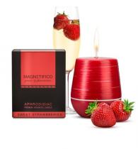 Valavani afrodiziakální svíčka Magnetifico aphrodisiac candle Sweet strawberries