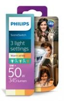 Philips LED SceneSwitch GU10 50/25/10W 827 36D