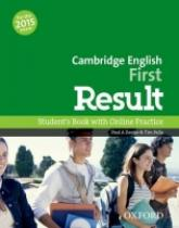 Cambridge English First Result Student´s Book with Online Practice Test - Davies, P. A., Falla, T.