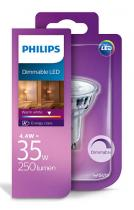 PHILIPS Lighting LED 4,4W/35W GU10 WW 36D D bodová