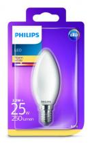 PHILIPS Lighting LED 2,2W/25W E14 WW FR+Glass B35 ND svíčka