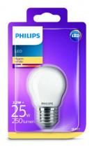 PHILIPS Lighting LED 2,2W/25W E27 WW FR+Glass P45 ND mini kvapka