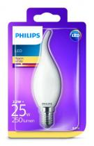 PHILIPS Lighting LED 2,2W/25W E14 WW FR+Glass BA35 ND svíčka