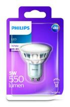 PHILIPS Lighting LED 5W 550lm GU10 WH 120D ND bodová