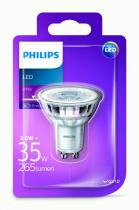 PHILIPS Lighting LED 3,5W/35W GU10 WH 36D ND bodová