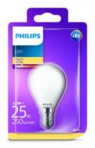 PHILIPS Lighting LED 2,2W/25W E14 WW FR+Glass P45 ND kvapka