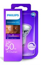 PHILIPS Lighting LED 5,5W/50W GU10 WH 36D D bodová