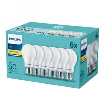 PHILIPS Lighting LED 9W/60W E27 WW A60 FR ND 6-set