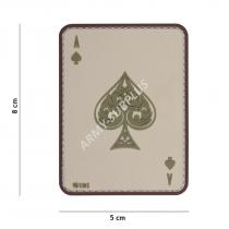 101. INC pikové eso Ace of Spades Death Card 3D PVC suchý zip