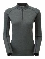 Montane Fem Primino 220 Zip Neck black