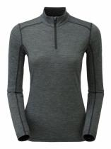 Montane Fem Primino 140 Zip Neck black