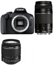 Canon EOS 2000D + 18-55mm + 75-300mm