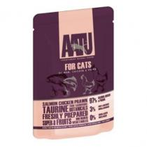 AATU Cat Salmon n Chicken n Prawn 85g