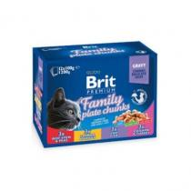 Brit Premium Cat Family Plate 1200g (12x100g)