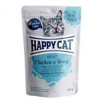 Happy Cat Meat in Sauce Adult Kuře a pstruh 85g