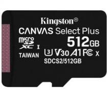 Kingston Micro SDXC Canvas Select Plus 100R 512GB 100MB/s UHS-I - SDCS2/512GBSP
