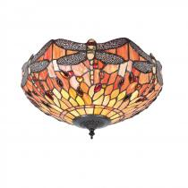 Interiors1900 Dragonfly flame stropnice Tiffany 70721