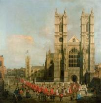 (1697-1768) Canaletto - Obrazová reprodukce Procession of the Knights of the Bath 40x40 cm