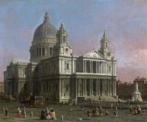(1697-1768) Canaletto - Obrazová reprodukce St. Paul's Cathedral, 1754 40x33.4 cm