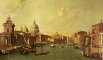 (1697-1768) Canaletto - Obrazová reprodukce The Church of La Salute and the Grand Canal 40x22.5 cm