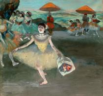 Edgar Degas - Obrazová reprodukce Dancer with bouquet, curtseying, 1877 40x40 cm