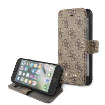 Guess Pouzdro / kryt pro iPhone 7 / 8 / SE (2020) - 4G Book Brown