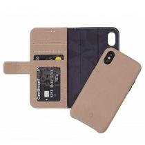 Decoded Leather Detachable Wallet pro iPhone XS/X-Naturel