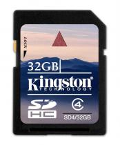 Kingston SDHC Secure Digital 32GB Class 4