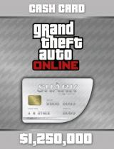 Grand Theft Auto Online: Great White Shark Cash Card 1,250,000$ Social Club (PC)