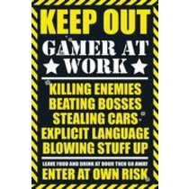 POSTERS GAMING keep out plakát 61 x 91 cm