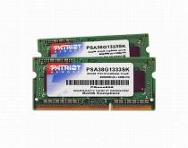 Patriot Signature Line 8GB (2x4GB) DDR3 1333 SODIMM CL9 (PSA38G1333SK )