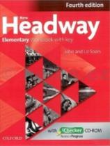 John a Liz Soars: New Headway Fourth edition Elementary Workbook with key with iCHecker CD pack